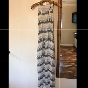 Cloth & Stone Maxi Dress - Blue Striped - Size XS